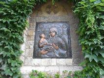 Εικονίδιο apse της εκκλησίας εκκλησιών της ιερής μητέρας του Θεού, Βελιγράδι, Σερβία Στοκ Εικόνες