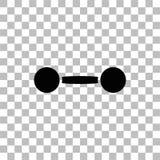 Εικονίδιο Barbell επίπεδο διανυσματική απεικόνιση