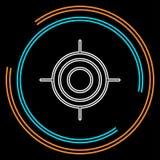 Εικονίδιο Crosshairs - διανυσματικός στόχος στόχων, σύμβολο ελεύθερων σκοπευτών διανυσματική απεικόνιση