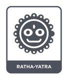 εικονίδιο ratha-yatra στο καθιερώνον τη μόδα ύφος σχεδίου εικονίδιο ratha-yatra που απομονώνεται στο άσπρο υπόβαθρο διανυσματικό  ελεύθερη απεικόνιση δικαιώματος