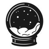 Εικονίδιο Snowglobe, απλό ύφος ελεύθερη απεικόνιση δικαιώματος