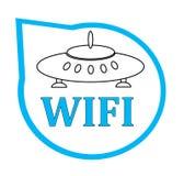 Εικονίδιο Wifi για την επιχείρηση ή την εμπορική χρήση Στοκ φωτογραφία με δικαίωμα ελεύθερης χρήσης