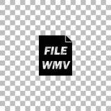 Εικονίδιο WMV επίπεδο ελεύθερη απεικόνιση δικαιώματος