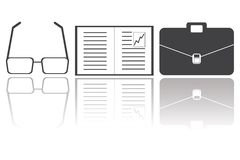 Εικονίδια έννοιας επιχειρήσεων και χρηματοδότησης στρατηγικής, διάνυσμα Στοκ Φωτογραφίες