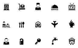 Εικονίδια έννοιας ξενοδοχείων Στοκ φωτογραφίες με δικαίωμα ελεύθερης χρήσης