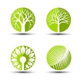 Εικονίδια δέντρων Στοκ εικόνες με δικαίωμα ελεύθερης χρήσης