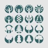 Εικονίδια δέντρων Στοκ εικόνα με δικαίωμα ελεύθερης χρήσης