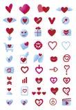 Εικονίδια αγάπης Στοκ εικόνες με δικαίωμα ελεύθερης χρήσης