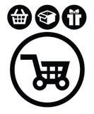 Εικονίδια αγορών Στοκ εικόνες με δικαίωμα ελεύθερης χρήσης