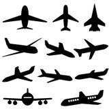 Εικονίδια αεροπλάνων Στοκ φωτογραφία με δικαίωμα ελεύθερης χρήσης