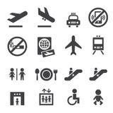 Εικονίδια αερολιμένων ελεύθερη απεικόνιση δικαιώματος