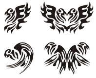 Εικονίδια αετών και παπαγάλων Στοκ Εικόνες