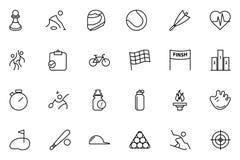 Εικονίδια 2 αθλητικών διανυσματικά γραμμών Στοκ Εικόνες