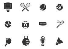 Εικονίδια αθλητικών σφαιρών καθορισμένα Στοκ Φωτογραφίες