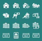 Εικονίδια ακίνητων περιουσιών Στοκ εικόνες με δικαίωμα ελεύθερης χρήσης