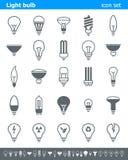 Εικονίδια λαμπών φωτός - απεικόνιση Στοκ Εικόνες