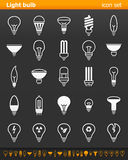 Εικονίδια λαμπών φωτός - απεικόνιση Στοκ Εικόνα