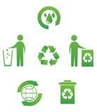 εικονίδια ανακύκλωσης Στοκ φωτογραφίες με δικαίωμα ελεύθερης χρήσης