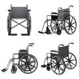 Εικονίδια αναπηρικών καρεκλών  Στοκ Φωτογραφία