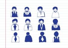 Εικονίδια ανθρώπων εικονιδίων επιχειρησιακών ατόμων Στοκ Εικόνα