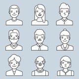 Εικονίδια ανθρώπων που τίθενται ελεύθερη απεικόνιση δικαιώματος