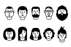 Εικονίδια ανθρώπων Στοκ Φωτογραφίες