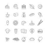 Εικονίδια αρτοποιείων, διανυσματικό απόθεμα Στοκ εικόνα με δικαίωμα ελεύθερης χρήσης