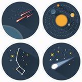 Εικονίδια αστερισμών αστεριών Στοκ φωτογραφίες με δικαίωμα ελεύθερης χρήσης