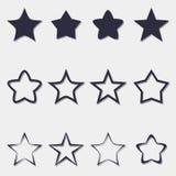 Εικονίδια αστεριών Στοκ Εικόνες