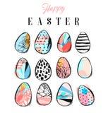 Εικονίδια αυγών Πάσχας επίσης corel σύρετε το διάνυσμα απεικόνισης Στοκ εικόνες με δικαίωμα ελεύθερης χρήσης