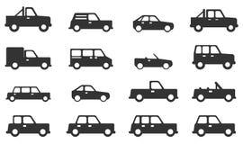 Εικονίδια αυτοκινήτων απλά Στοκ Φωτογραφίες
