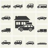 Εικονίδια αυτοκινήτων Στοκ φωτογραφία με δικαίωμα ελεύθερης χρήσης