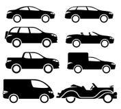 Εικονίδια αυτοκινήτων Στοκ Εικόνα