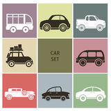 Εικονίδια αυτοκινήτων Στοκ εικόνα με δικαίωμα ελεύθερης χρήσης
