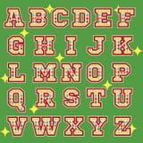 Εικονίδια αλφάβητου θέματος τσίρκων Στοκ Εικόνες