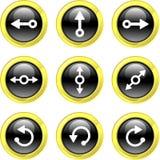 εικονίδια βελών Στοκ εικόνες με δικαίωμα ελεύθερης χρήσης