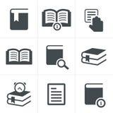 Εικονίδια βιβλίων καθορισμένα, διανυσματικό σχέδιο Στοκ φωτογραφία με δικαίωμα ελεύθερης χρήσης