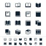 Εικονίδια βιβλίων Στοκ Φωτογραφία