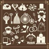 Εικονίδια γαμήλιου σχεδίου για τον Ιστό και Mobile.Vector Στοκ Εικόνες