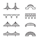 Εικονίδια γεφυρών Στοκ φωτογραφία με δικαίωμα ελεύθερης χρήσης