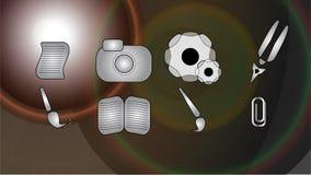 Εικονίδια για τη λύση Στοκ Φωτογραφίες