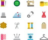 Εικονίδια για το ράψιμο και dressmaking Στοκ εικόνες με δικαίωμα ελεύθερης χρήσης