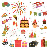 Εικονίδια γιορτής γενεθλίων Στοκ φωτογραφία με δικαίωμα ελεύθερης χρήσης