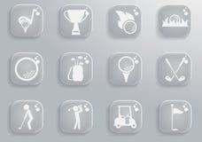 Εικονίδια γκολφ απλά Στοκ φωτογραφίες με δικαίωμα ελεύθερης χρήσης