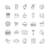 Εικονίδια γρήγορου φαγητού - σύνολο αποθεμάτων Στοκ Φωτογραφία