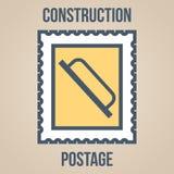 Εικονίδια γραμματοσήμων των σκιαγραφιών των εργαλείων κατασκευής Trowel για την επικονίαση Στοκ εικόνες με δικαίωμα ελεύθερης χρήσης