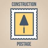 Εικονίδια γραμματοσήμων των σκιαγραφιών των εργαλείων κατασκευής trowel Στοκ φωτογραφία με δικαίωμα ελεύθερης χρήσης