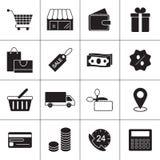 Εικονίδια γραμμών αγορών Στοκ εικόνα με δικαίωμα ελεύθερης χρήσης