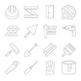 Εικονίδια γραμμών κτηρίου καθορισμένα Στοκ εικόνες με δικαίωμα ελεύθερης χρήσης