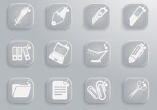 Εικονίδια γραφείων απλά Στοκ εικόνες με δικαίωμα ελεύθερης χρήσης